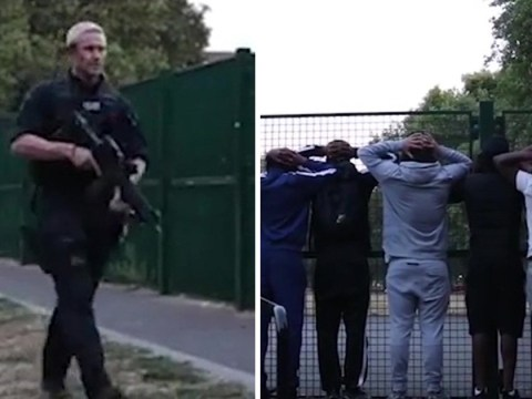 Armed police interrupt drill music video to carry out mass stop and search