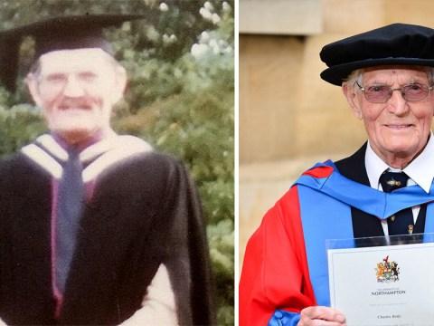 World War II veteran gets a PhD aged 95