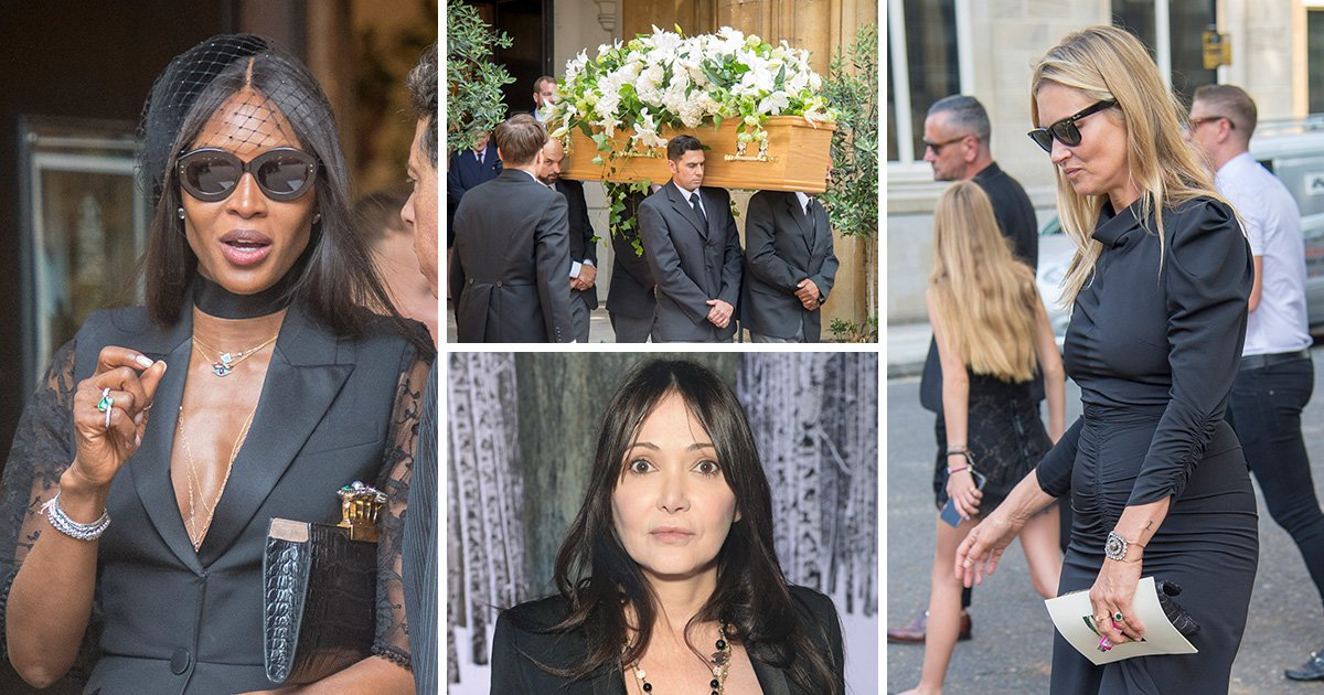 Annabelle Neilson's close friends Kate Moss and Naomi Campbell pay tribute at her funeral