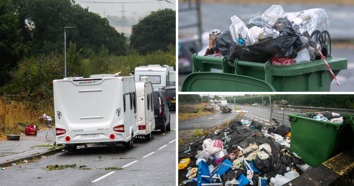 Travellers are not happy with council's failure to pick up their rubbish