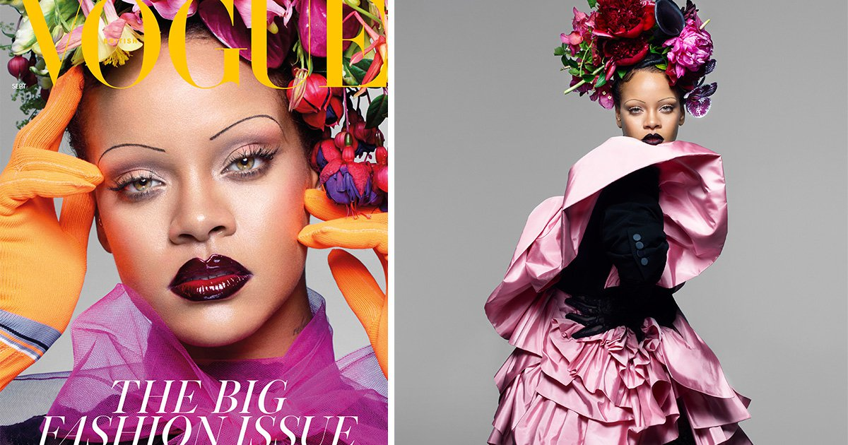 Rihanna becomes first black woman to front British Vogue's September issue