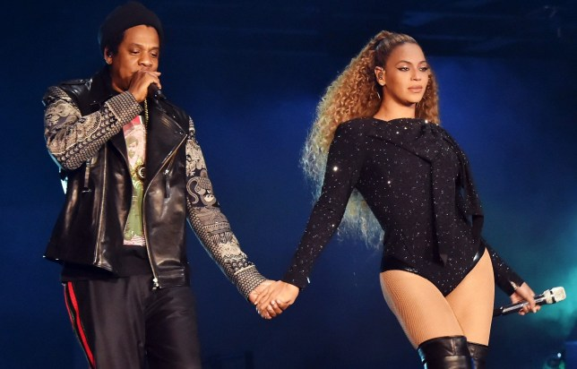 """Jay-Z and Beyonce Knowles perform on stage during the """"On the Run II"""" tour opener at Principality Stadium on June 6, 2018 in Cardiff, Wales. (Photo by Kevin Mazur/Getty Images For Parkwood Entertainment)"""