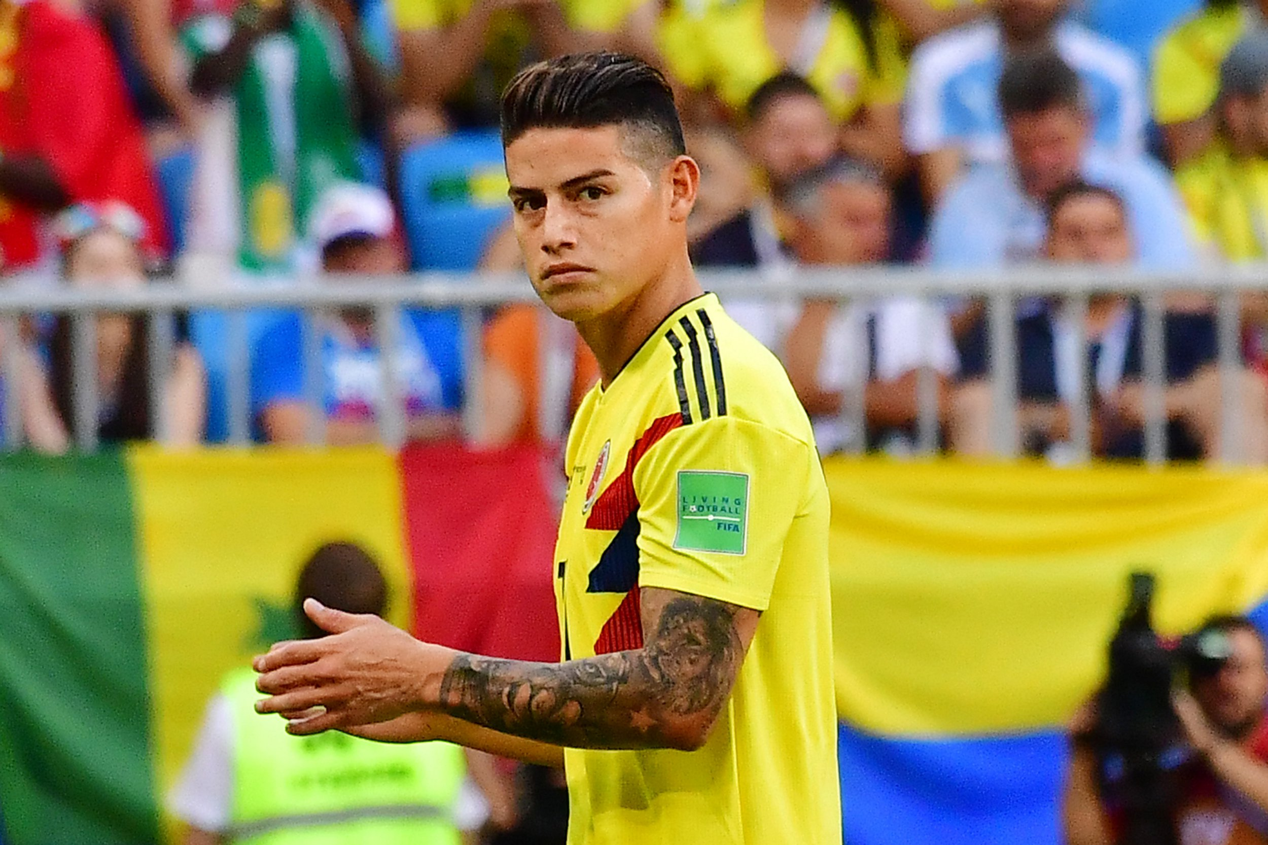 Colombia refuse to say if James Rodriguez will start against England after positive scan results