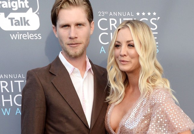 Mandatory Credit: Photo by Broadimage/REX/Shutterstock (9315498dr) Kaley Cuoco and Karl Cook Critics' Choice Awards, Arrivals, Los Angeles, USA - 11 Jan 2018 The 23rd Critics Choice Awards