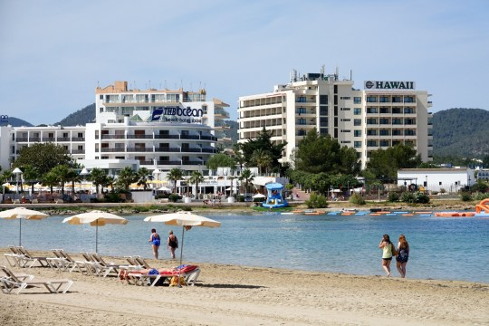 Mandatory Credit: Photo by Geoff Robinson Photography/REX/Shutterstock (5745835af) Beach in San Antonio in Ibiza. Ibiza - Jul 2016