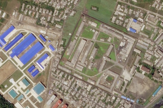 A North Korean missile production facility in the city of Hamhung is seen from a satellite image taken on June 29, 2018. Planet Labs Inc/Handout via REUTERS ATTENTION EDITORS - THIS IMAGE HAS BEEN SUPPLIED BY A THIRD PARTY. MANDATORY CREDIT. NO RESALES. NO ARCHIVES. THIS IMAGE WAS PROCESSED BY REUTERS TO ENHANCE QUALITY. AN UNPROCESSED VERSION WAS PROVIDED SEPARATELY.