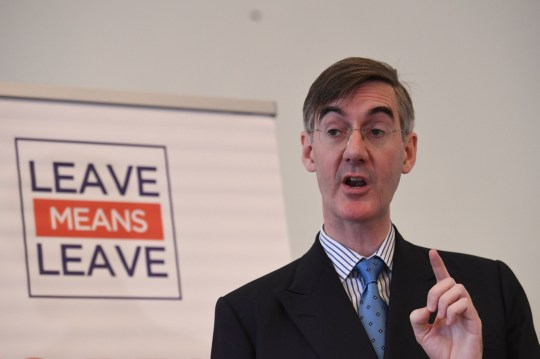 Conservative MP Jacob Rees-Mogg speaks about Brexit at a Leave Means Leave event at Carlton House Terrace, London.