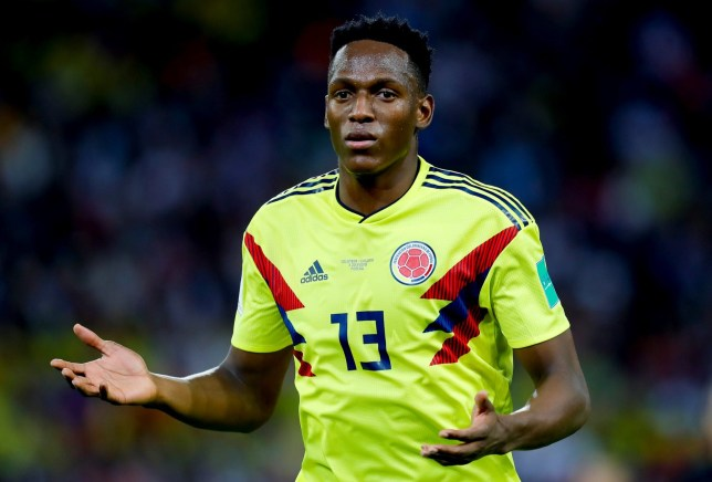 MOSCOW, RUSSIA - JULY 03: Yerry Mina of Colombia is seen during the 2018 FIFA World Cup Russia Round of 16 match between Colombia and England at the Spartak Stadium in Moscow, Russia on July 03, 2018. (Photo by Sefa Karacan/Anadolu Agency/Getty Images)