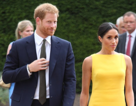 The Duke and Duchess of Sussex arrive to attend the Your Commonwealth Youth Challenge reception at Marlborough House in London. PRESS ASSOCIATION Photo. Picture date: Thursday July 5, 2018. See PA story ROYAL Sussex. Photo credit should read: Yui Mok/PA Wire