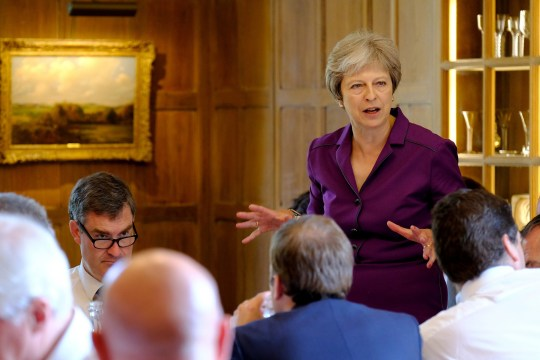 EMBARGOED TO 2100 FRIDAY JULY 6 Prime Minister Theresa May speaks during a cabinet meeting at Chequers, the Prime Minister's official country residence near Ellesborough in Buckinghamshire. Theresa May was battling to keep her Cabinet together ahead of a crunch Brexit showdown at her country retreat. PRESS ASSOCIATION Photo. Picture date: Friday July 6, 2018. See PA story POLITICS Brexit. Photo credit should read: Joel Rouse/Crown Copyright/PA Wire