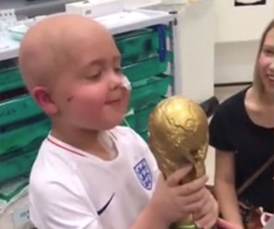 Picture: @LiamHerbert_ Harry Kane's touching message to a five-year-old cancer patient.
