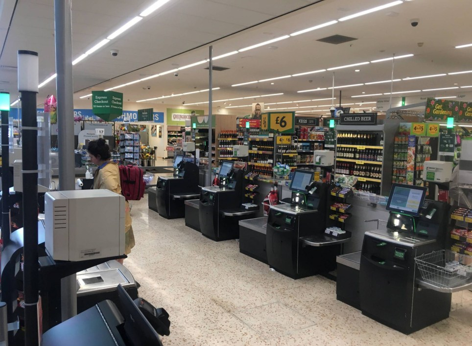 Dated: 07/07/2018 Deserted shopping tills at Morrisons store in Byker, Newcastle, at 3.30pm today - usually a thriving scene on a Saturday afternoon, but today is like a ghost town as people stay indoors to watch England take on Sweden in today's World Cup Quarter Final match in Russia. See England fans round-up