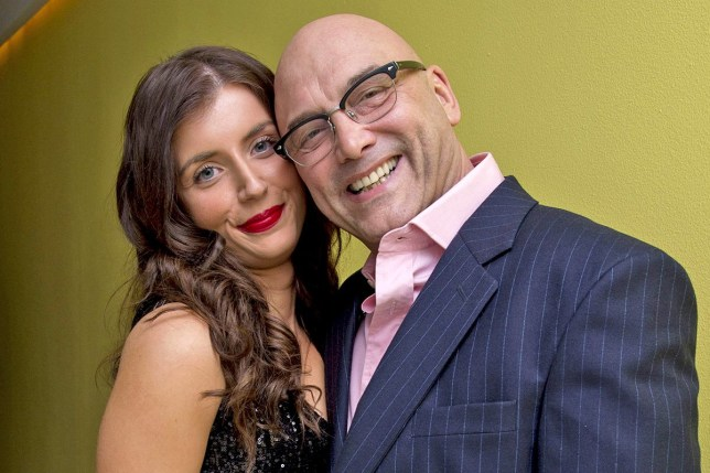 Mandatory Credit: Photo by Alan Davidson/Silverhub/REX/Shutterstock (7528061cx) English National Ballet's Nutcracker Reception at the London Coliseum Gregg Wallace with Girlfriend Anne-marie Sterpini Enb Nutcracker Reception - 12 Dec 2013
