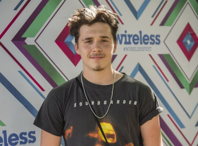 BGUK_1283672 - London, UNITED KINGDOM - Brooklyn Beckham at day 3 of Wireless Festival in Finsbury Park. Pictured: Brooklyn Beckham BACKGRID UK 8 JULY 2018 BYLINE MUST READ: TIMMSY / BACKGRID UK: +44 208 344 2007 / uksales@backgrid.com USA: +1 310 798 9111 / usasales@backgrid.com *UK Clients - Pictures Containing Children Please Pixelate Face Prior To Publication*