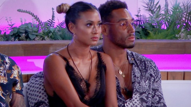 Editorial Use Only. No Merchandising. No Commercial Use. Mandatory Credit: Photo by ITV/REX/Shutterstock (9738276t) Kazimir Crossley and Josh Denzel 'Love Island' TV Show, Series 4, Episode 32, Majorca, Spain - 05 Jul 2018