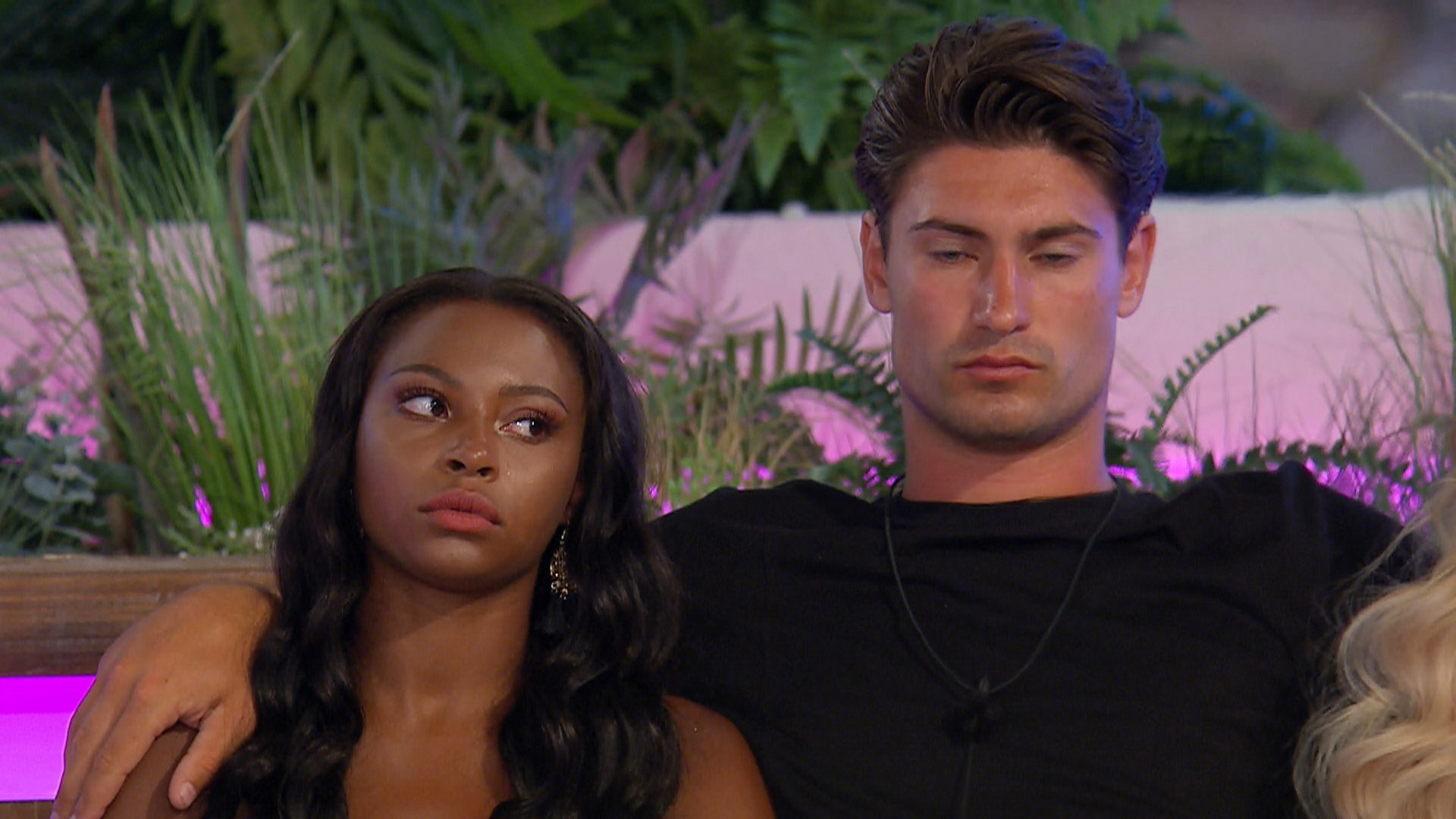 From ITV Studios Love Island: SR4: Ep36 on ITV2 Pictured: Samira and Frankie at the dumping. This photograph is (C) ITV Plc and can only be reproduced for editorial purposes directly in connection with the programme or event mentioned above, or ITV plc. Once made available by ITV plc Picture Desk, this photograph can be reproduced once only up until the transmission [TX] date and no reproduction fee will be charged. Any subsequent usage may incur a fee. This photograph must not be manipulated [excluding basic cropping] in a manner which alters the visual appearance of the person photographed deemed detrimental or inappropriate by ITV plc Picture Desk. This photograph must not be syndicated to any other company, publication or website, or permanently archived, without the express written permission of ITV Plc Picture Desk. Full Terms and conditions are available on the website www.itvpictures.co.uk For further information please contact: james.hilder@itv.com / 0207 157 3052