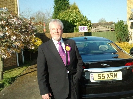 EAST ANGLIA NEWS SERVICE, tel. 07767 413379 Former UKIP councillor Stephen Searle, 64, an ex-Royal Marine, who is standing trial for the murder of his wife Anne at Ipswich Crown Court