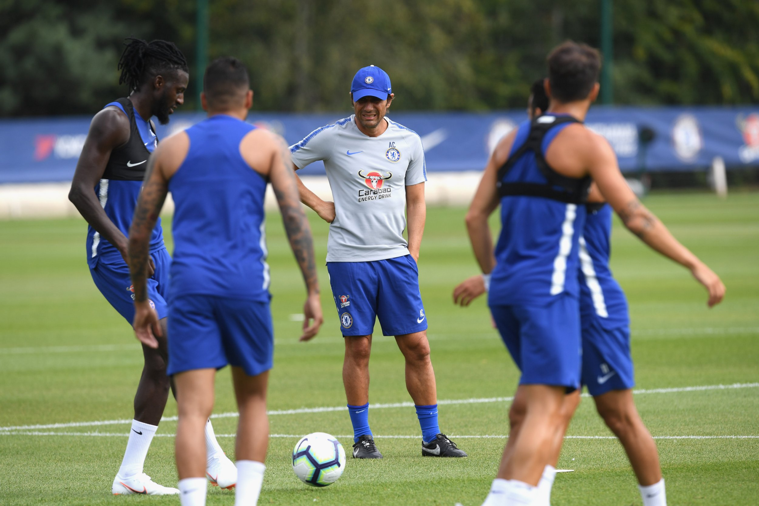 COBHAM, ENGLAND - JULY 09: Antonio Conte of Chelsea during a training session at Chelsea Training Ground on July 9, 2018 in Cobham, England. (Photo by Darren Walsh/Chelsea FC via Getty Images)