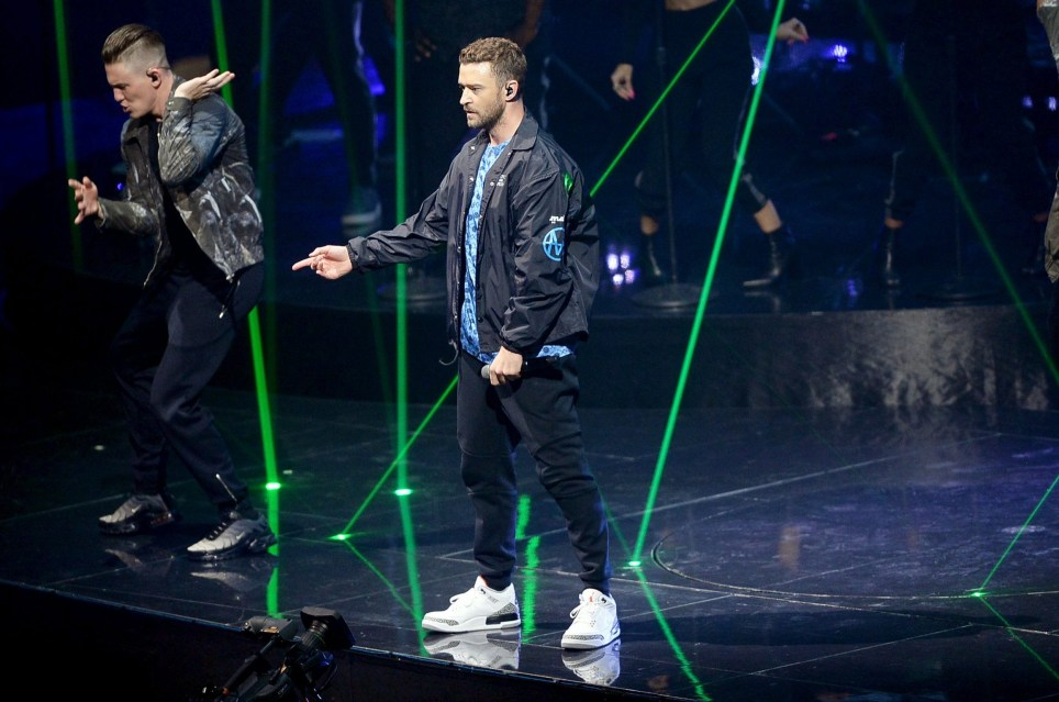 LONDON, ENGLAND - JULY 09: Justin Timberlake performs at The O2 Arena on July 9, 2018 in London, England. (Photo by Dave J Hogan/Dave J Hogan/Getty Images)