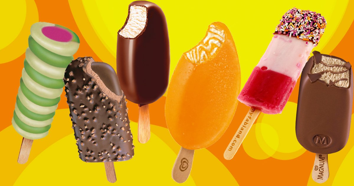 A poll has revealed Britain's favourite ice lollies