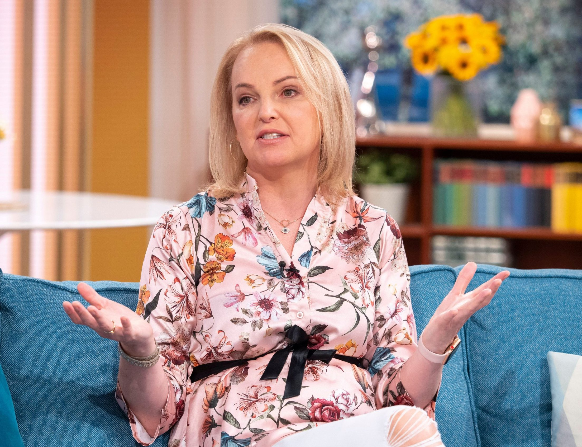 EDITORIAL USE ONLY. NO MERCHANDISING. Mandatory Credit: Photo by Ken McKay/ITV/REX/Shutterstock (9753846bt) India Willoughby 'This Morning' TV show, London, UK - 10 Jul 2018 Transgender newsreader India was trolled after her appearance in CBB for looking too masculine - so she decided to undergo drastic surgery called 'Facial feminisation'. The procedure took 11 hours and surgeons in Spain shaved her brow bone, her orbital lobes around her eyes, had blepharoplasty to open and widen her eyes, a mini face lift, lip lift and a hair transplant. We followed her through the surgery and now she?s on the sofa to exclusively reveal her new face.