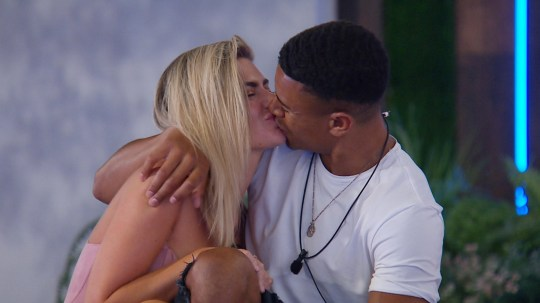 From ITV Studios Love Island: SR4: Ep37 on ITV2 Pictured: Megan and Wes get to go in to the hideaway. This photograph is (C) ITV Plc and can only be reproduced for editorial purposes directly in connection with the programme or event mentioned above, or ITV plc. Once made available by ITV plc Picture Desk, this photograph can be reproduced once only up until the transmission [TX] date and no reproduction fee will be charged. Any subsequent usage may incur a fee. This photograph must not be manipulated [excluding basic cropping] in a manner which alters the visual appearance of the person photographed deemed detrimental or inappropriate by ITV plc Picture Desk. This photograph must not be syndicated to any other company, publication or website, or permanently archived, without the express written permission of ITV Plc Picture Desk. Full Terms and conditions are available on the website www.itvpictures.co.uk For further information please contact: james.hilder@itv.com / 0207 157 3052
