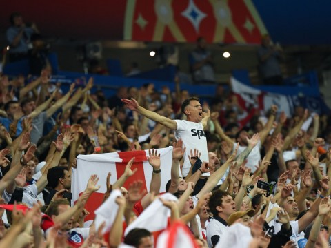England fans stay behind long after Croatia game to serenade heartbroken player