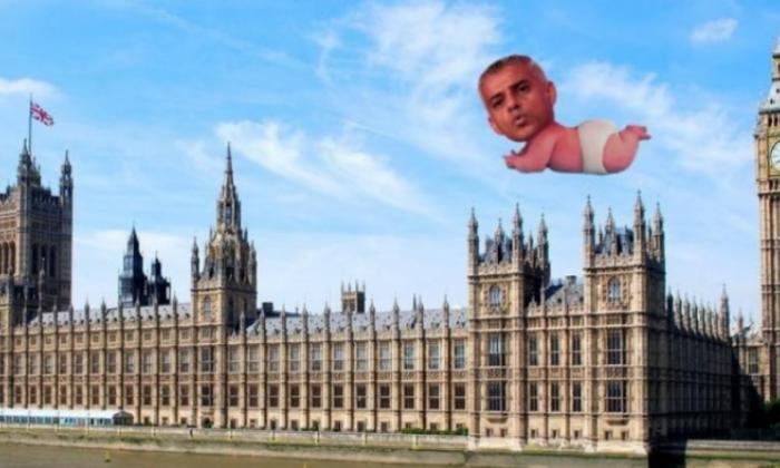 Could a Sadiq Khan baby blimp be on the way? METRO GRAB taken from: https://www.crowdfunder.co.uk/giant-sadiq-khan-baby-balloon-to-fly-over-london Credit: Crowdfunder