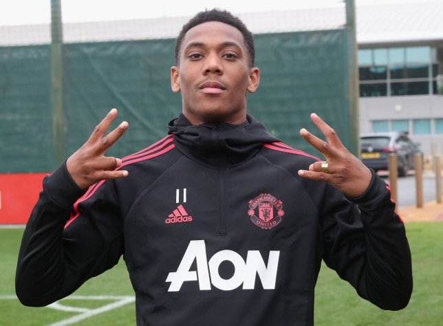 MANCHESTER, ENGLAND - JULY 13: (EXCLUSIVE COVERAGE) Anthony Martial of Manchester United in action during a first team training session at Aon Training Complex on July 13, 2018 in Manchester, England. (Photo by John Peters/Man Utd via Getty Images)