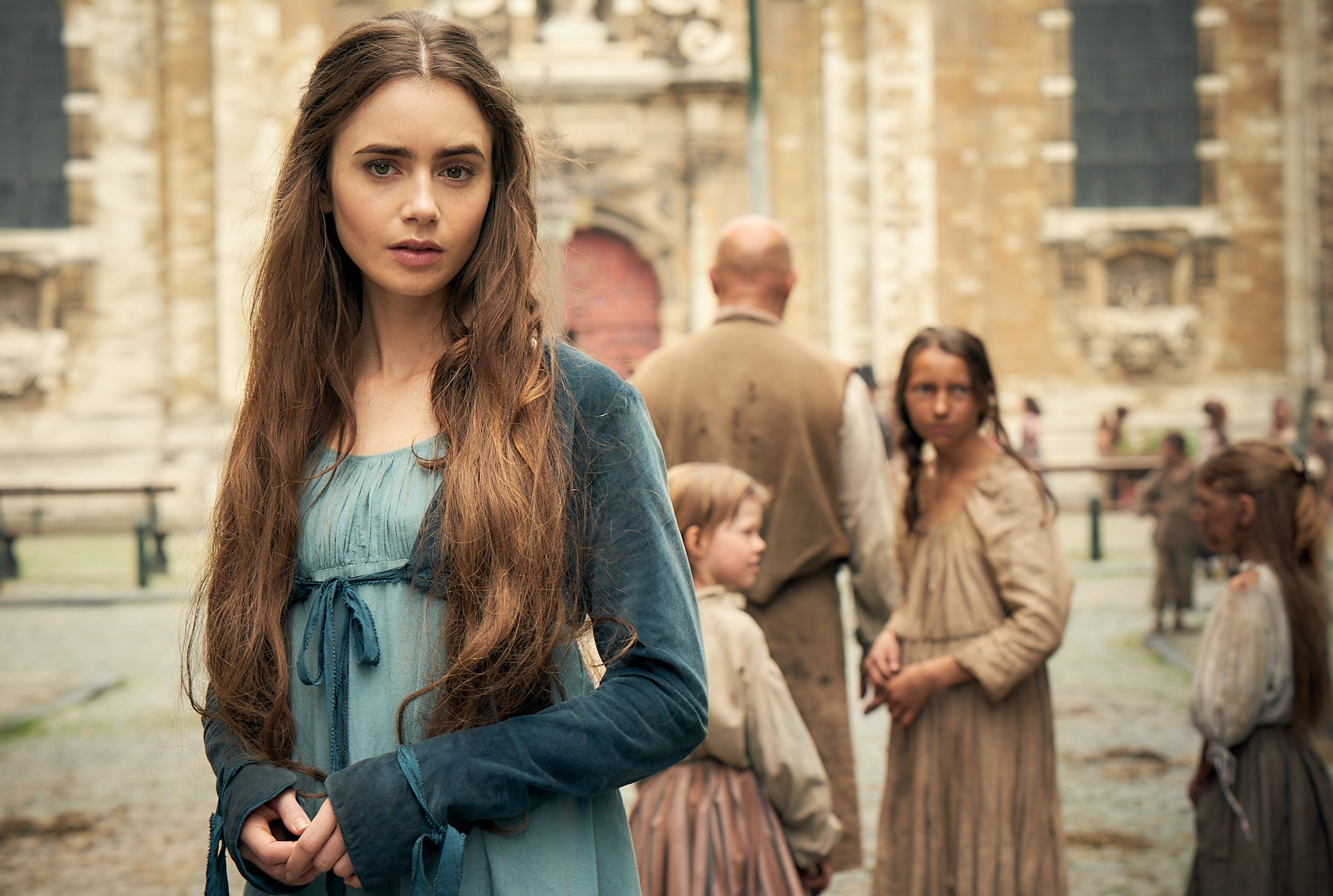 WARNING: Embargoed for publication until 00:00:01 on 15/07/2018 - Programme Name: Les Miserables - TX: 13/07/2018 - Episode: Les Miserables - First Look (No. n/a) - Picture Shows: **STRICTLY EMBARGOED UNTIL 00:01 HRS ON SUNDAY 15TH JULY 2018** Fantine (LILY COLLINS) - (C) BBC Studios/Lookout Point - Photographer: Robert Viglasky