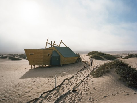 A shipwrecked lodge in a desert might be the perfect remote getaway