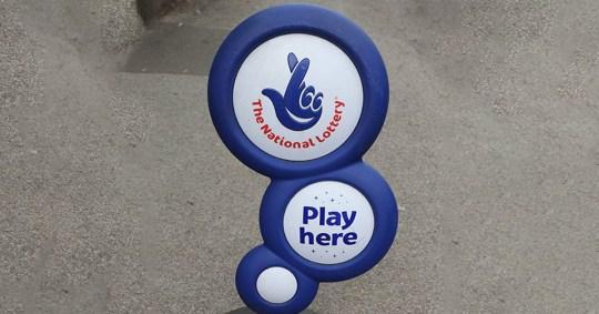 Mandatory Credit: Photo by John Birdsall/REX/Shutterstock (4592569a) National Lottery Sign Various
