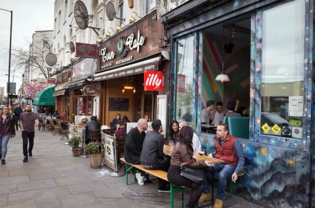 Mandatory Credit: Photo by Alex Segre/REX/Shutterstock (5773360ac) Trendy bars on Kingsland High Street in Dalston, Hackney, London, England, UK Stock, UK