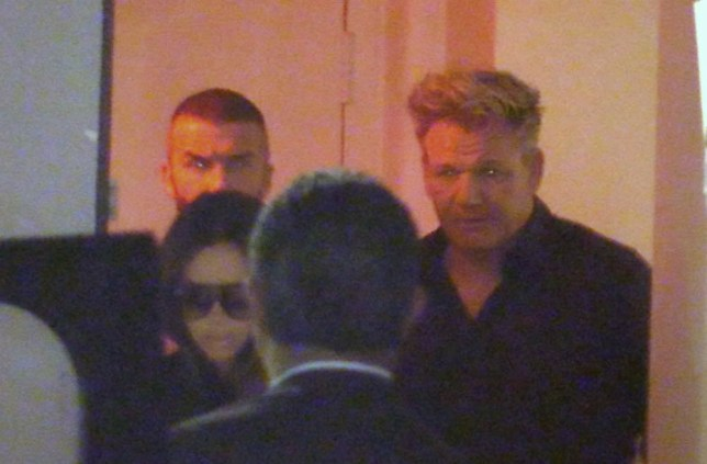 EXCLUSIVE: David Beckham, Victoria Beckham, Tana Ramsey and Gordon Ramsey leave Madeos in Beverly Hills. The couples arrived at around 7:00pm and left at around 9:00pm. David was sporting his fresh new buzzcut he got earlier in the day. 19 Jul 2018 Pictured: David Beckham, Victoria Beckham, Tana Ramsey and Gordon Ramsey leave Madeos in Beverly Hills. Photo credit: MEGA TheMegaAgency.com +1 888 505 6342