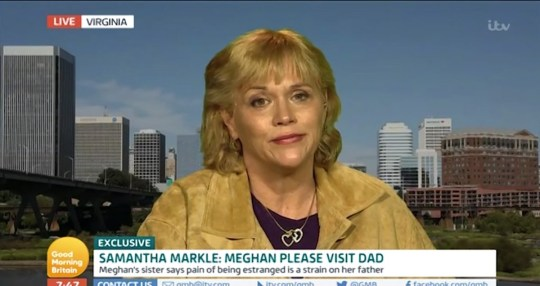 Samantha Markle Credit: ITV