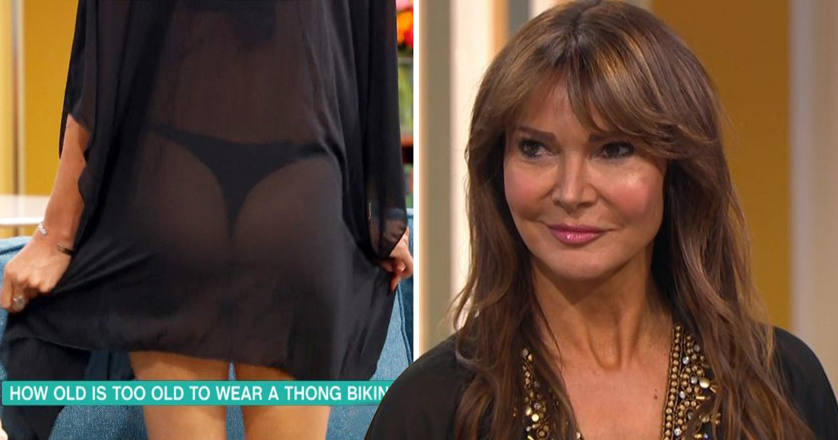 Lizzie Cundy flashes bum on This Morning in heated thong debate: 'Let your bum breathe'