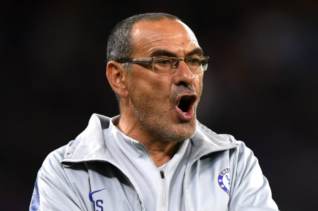 PERTH, AUSTRALIA - JULY 23: Maurizio Sarri, Manager of Chelsea reacts during the international friendly between Chelsea FC and Perth Glory at Optus Stadium on July 23, 2018 in Perth, Australia. (Photo by Darren Walsh/Chelsea FC via Getty Images)