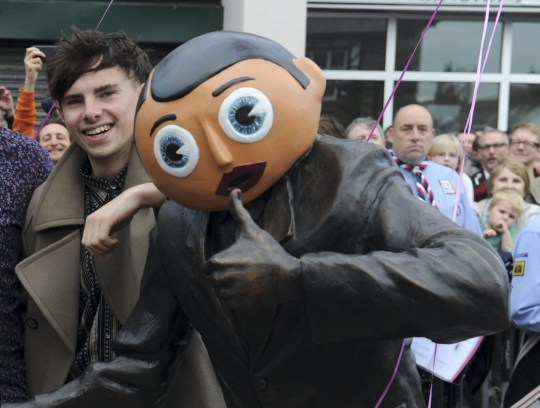 Harry Sievey (In dark khaki coat) with his family at the unveiling in 2013 of a statue to his late father Chris who created Frank Sidebottom. Harry was klled in a cycling crash. Vithal Visavadiya, 61, denies causing death by careless driving. Disclaimer: While Cavendish Press (Manchester) Ltd uses its' best endeavours to establish the copyright and authenticity of all pictures supplied, it accepts no liability for any damage, loss or legal action caused by the use of images supplied. The publication of images is solely at your discretion. For terms and conditions see http://www.cavendish-press.co.uk/pages/terms-and-conditions.aspx