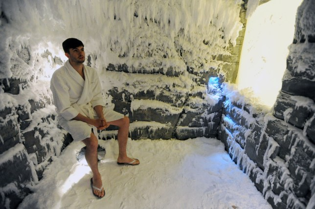 The Ice Room at K West, Shepherds Bush, West London. photographer byline Darren Pepe.