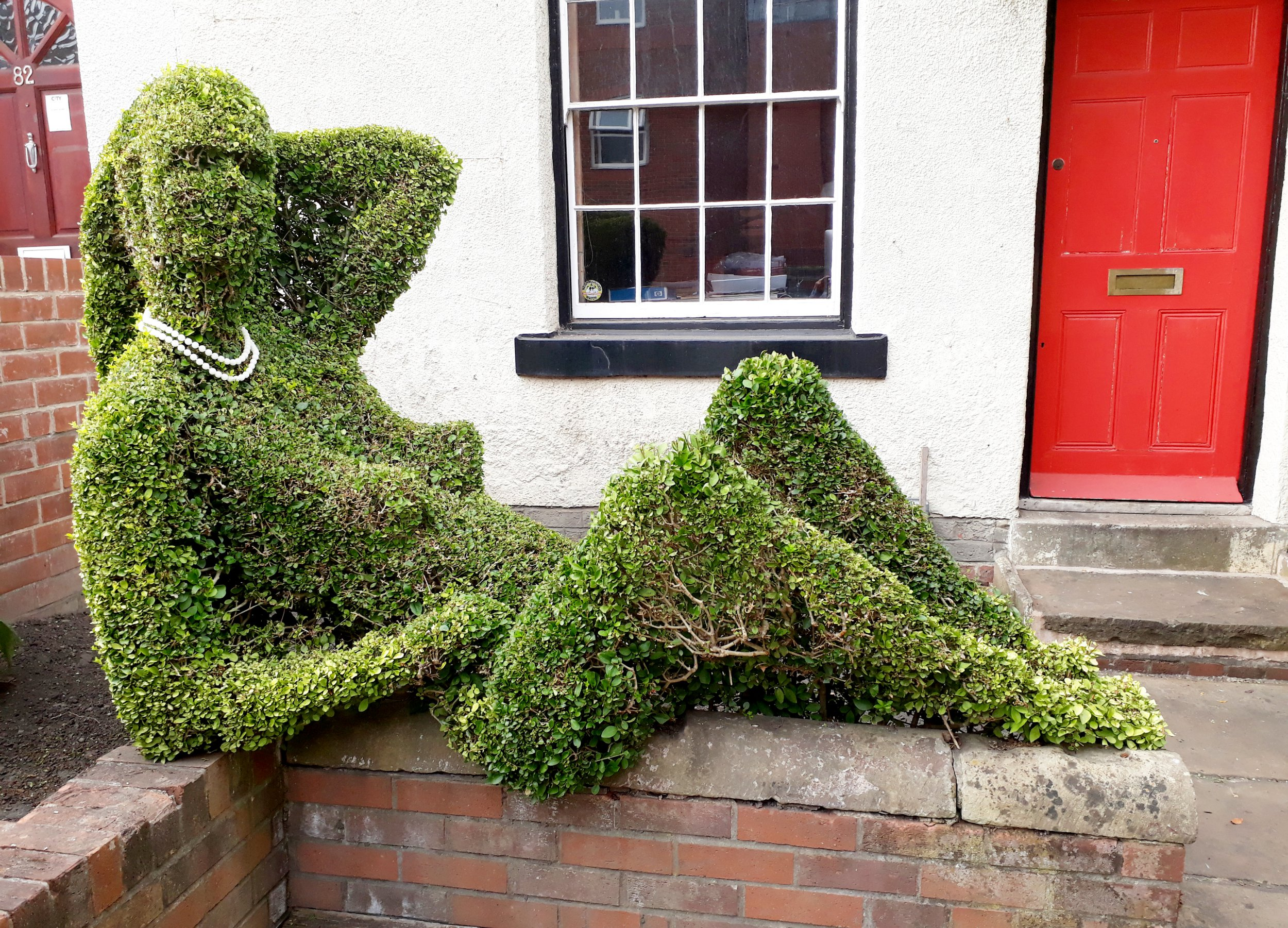 "A topiarist says he is having to make regular repairs to his hedge due to drunk people pretending to have sex with it. See ROSS PARRY story RPYHEDGE. Keith Tyssen has maintained his ""privet lady"" at his Sheffield home since 2000, but is often woken up in the night by distracted passers-by. ""They're climbing on top of her and pulling her legs apart - you know, it's disgusting,"" he said. Mr Tyssen has considered putting up a sign or an alarm to curb the behaviour. The hedge, which he has sculpted over the past 40 years, started off as a Greek god but he changed it into a reclining woman at the turn of the millennium."