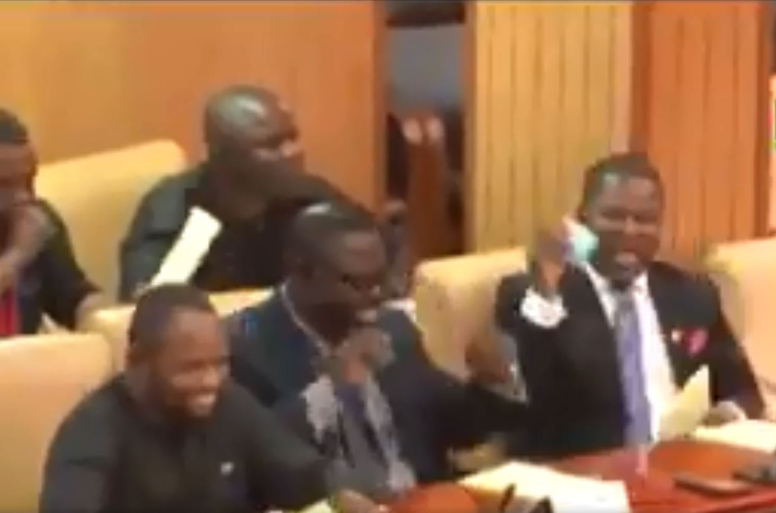 Picture: UTV Ghana MPs giggle over rude village name