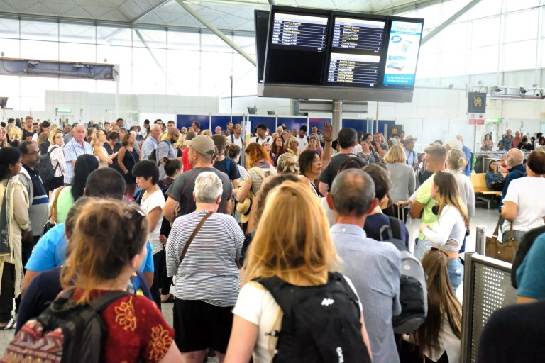 Nightmare at Stansted as thunderstorms spread travel misery