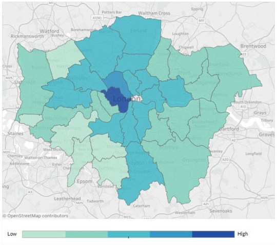 London Dangerous Areas Map.Which London Boroughs Are The Most Dangerous Metro News
