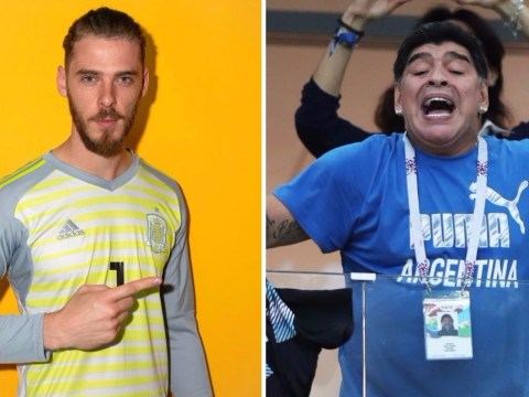 Diego Maradona defends David De Gea after struggles for Spain at World Cup