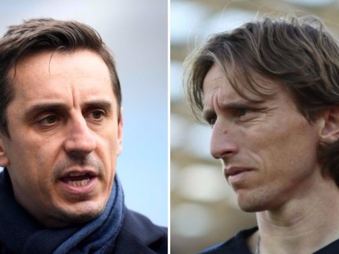 Gary Neville hits back at Luka Modric over English media comments
