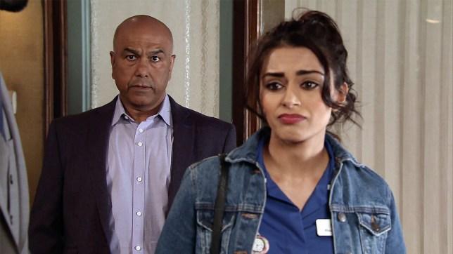 Rana is devastated in Coronation Street