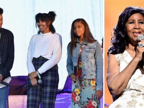 Aretha Franklin's grandchildren thank 'heartwarming' artists who paid tribute to star