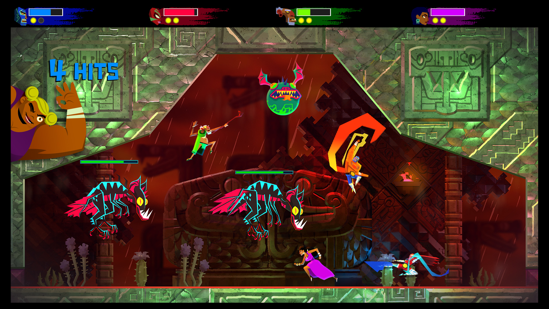 Guacamelee! 2 (PS4) - four-way melee