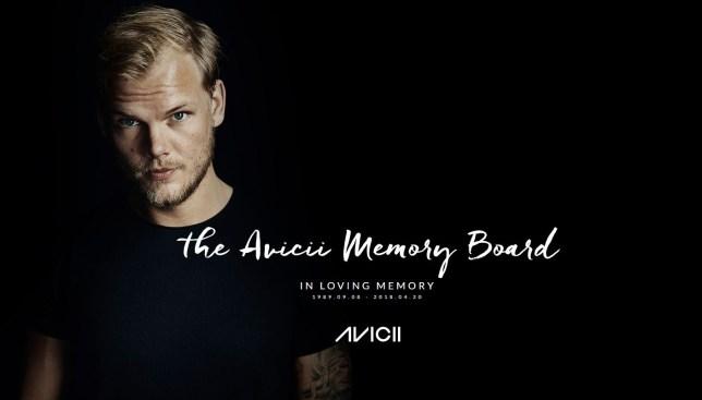 Avicii website turned into memory board