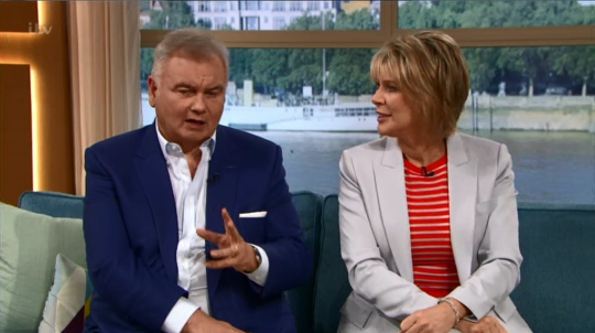 Eamonn got himself into hot water when he failed to keep a lid on one of his opinions (Picture: ITV)